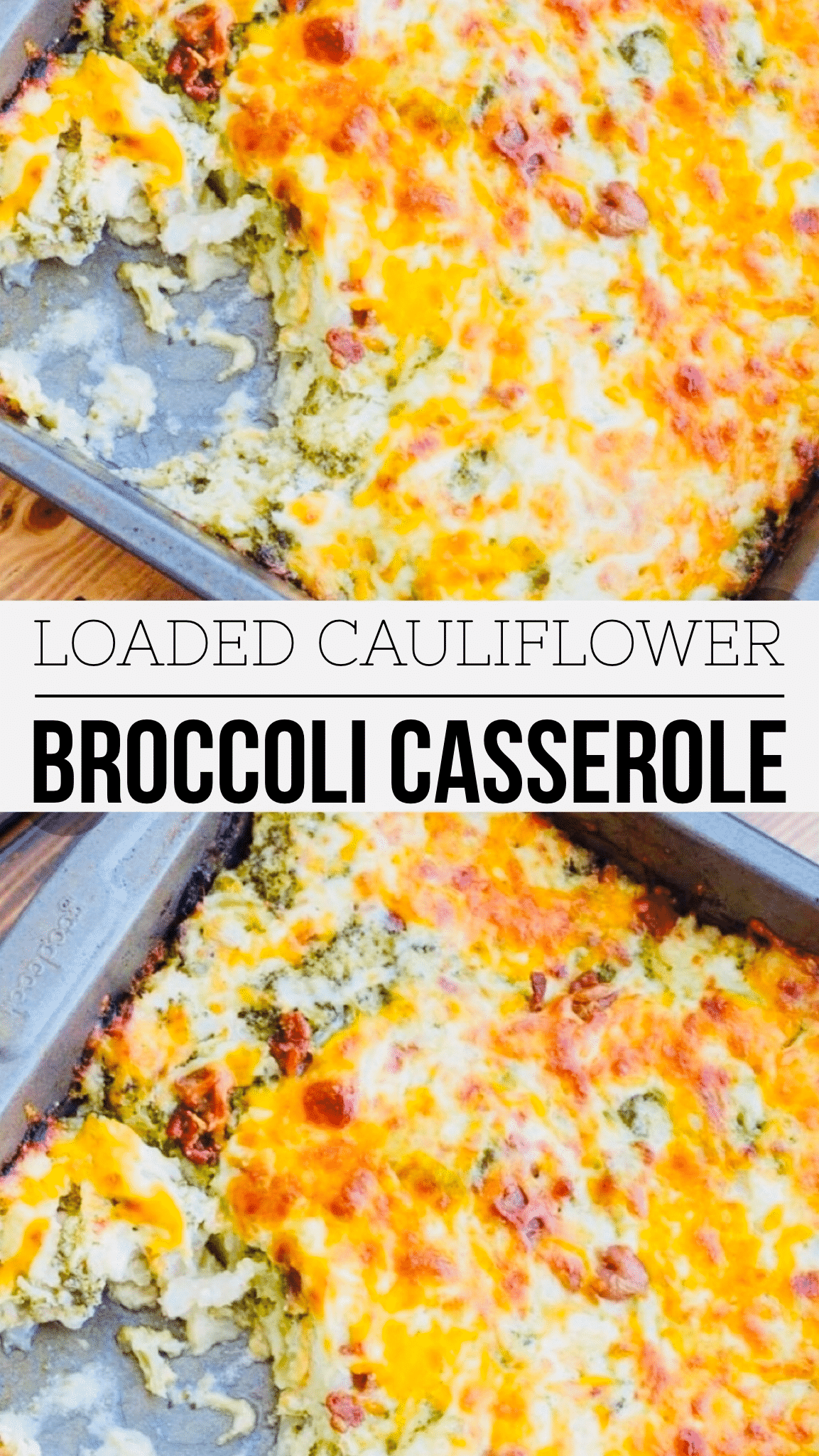 Loaded Cauliflower Broccoli Casserole | My Best Home Life #loadedcauliflowerbake