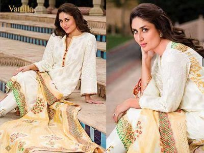 Kareena Kapoor for Faraz Manan's Crescent Lawn Collection is part of lawn Suits Crescents - Kareena Kapoor for Faraz Manan's Crescent Lawn Collection  The shoot was done in Jaipur by Dabboo Ratnani
