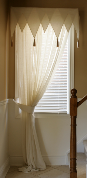How To Sew A Triangle Valance Sewing Room Design Sewing