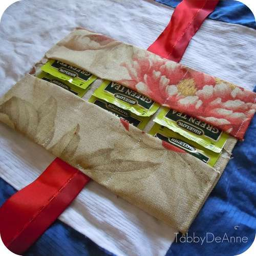DIY Tea Bag Travel Holder (made in 10min for 60 cents by Tabby DeAnne on instructables)