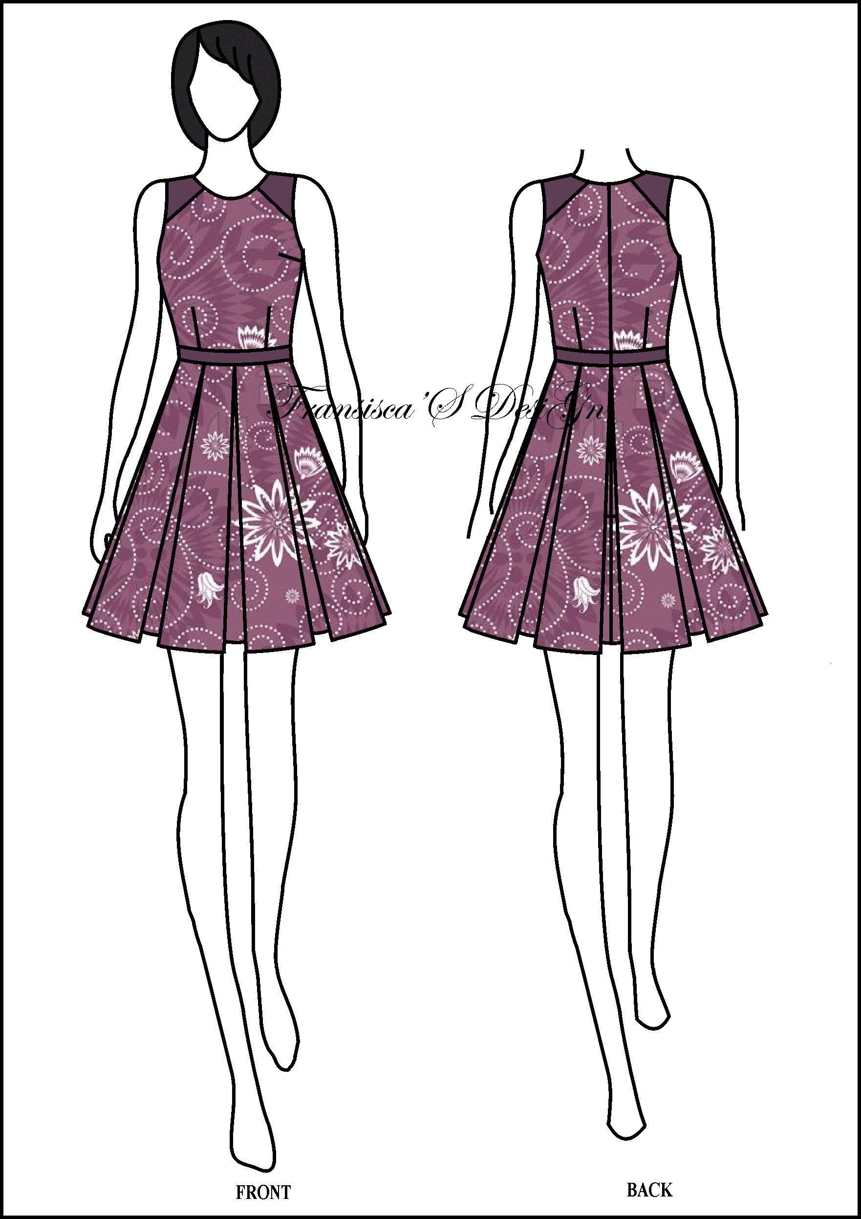 Dress span kombinasi garis. #FashionDesigner #Butik #OnlineShop