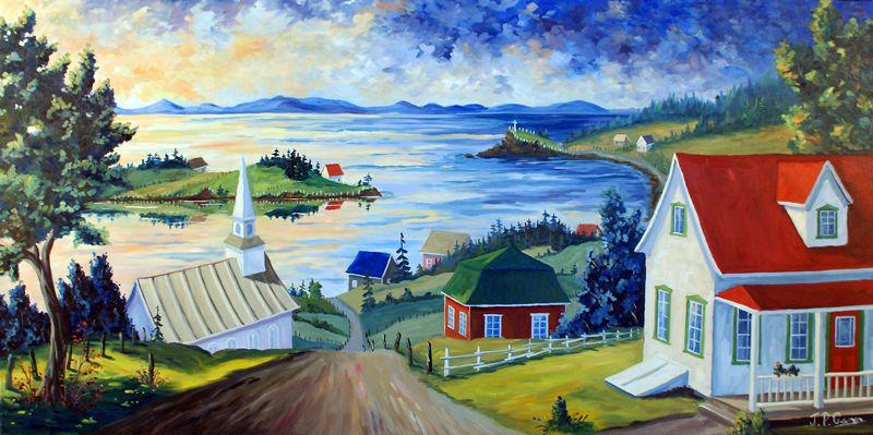 Peintres Quebecois Recherche Google Peinture Paysage Peintre