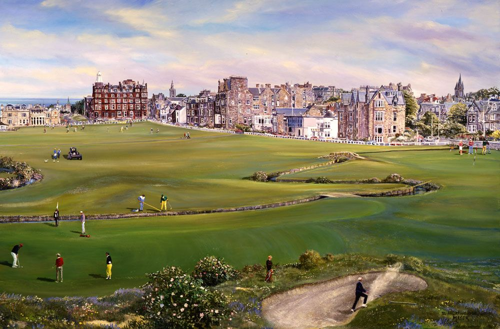 Golf At St Andrews Golf Course For Real Not Just On My Puter Golf Courses Golf Sport Poster
