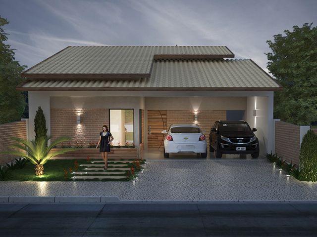 Fachadas casas pequenas com garagem pesquisa google for Modelo de fachada de casa