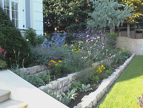 Kleiner hang terrassenf rmig angelegt outdoor garden for Gartenbeet modern