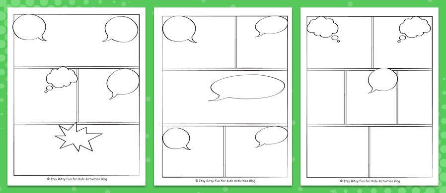 Free Printable Comic Strip Templates Medialoot Comic Strip