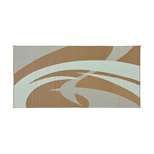 Details About Outdoor Rug RV 9x18 Ft Swirl Pattern Reversible Mat Patio  Garden Brown/Beige New