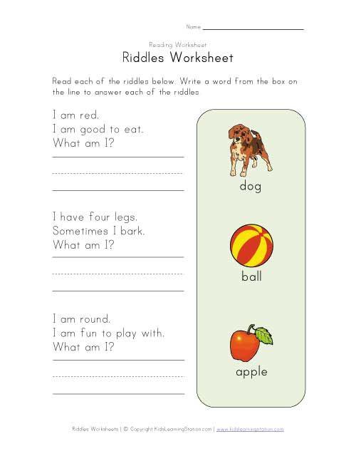 Riddle Worksheet Delibertad – Riddle Worksheets