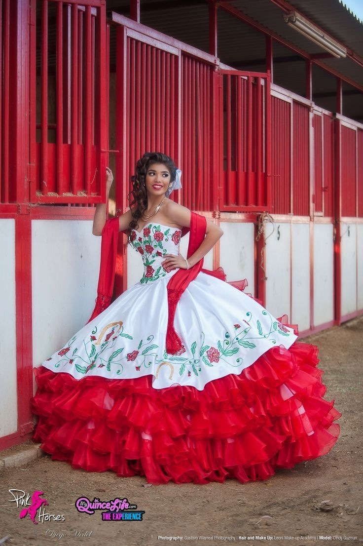 23bfdd6842b White And Red Quinceanera Dresses 2016 Ball Gown Ruffles With Embroidery  Flowers Sweet 16 Dresses Vestidos De 15 Anos Q3