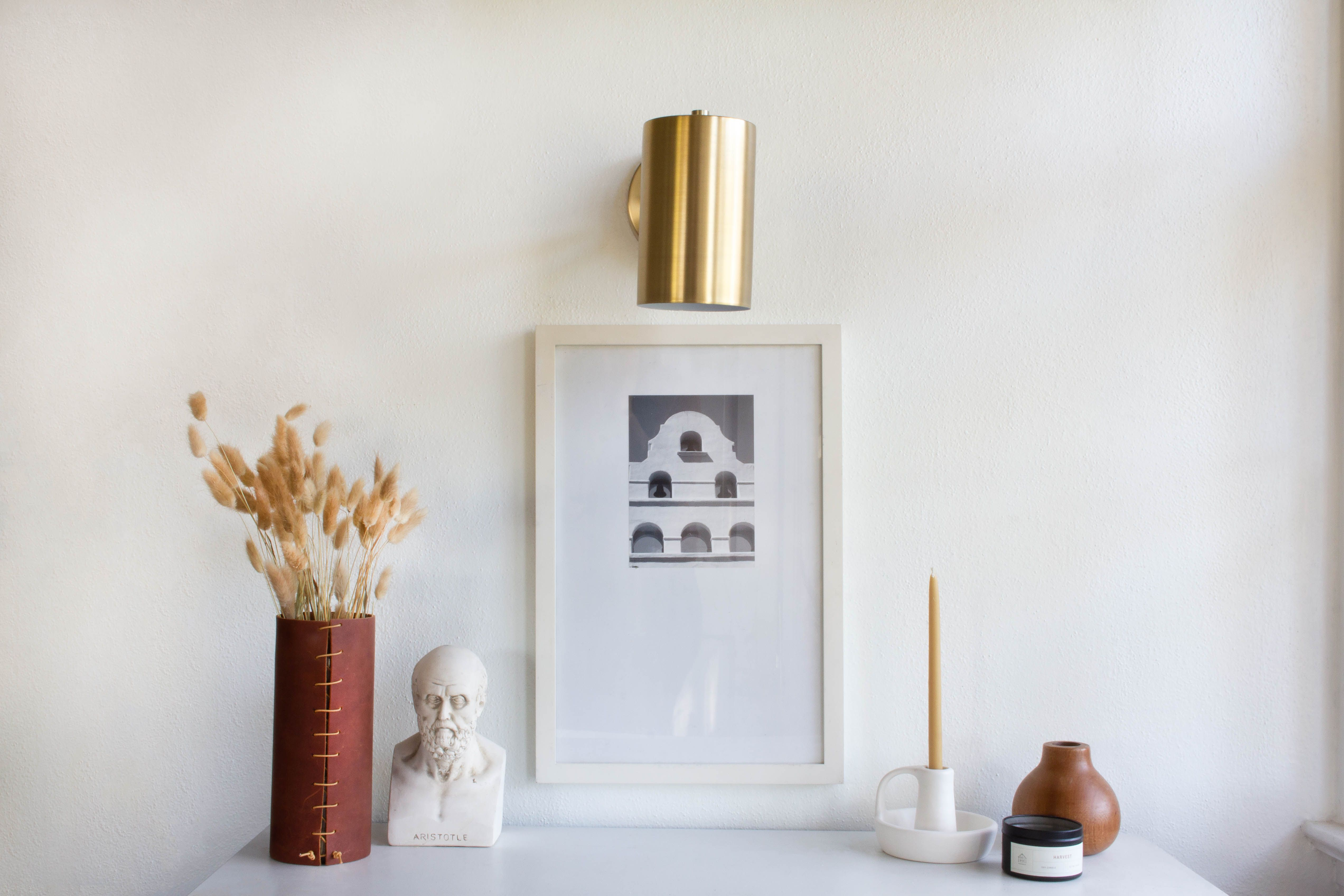 Genius Wall Sconce Hack, No Electricity Required | Wall ... on Sconces No Electric Power id=58345