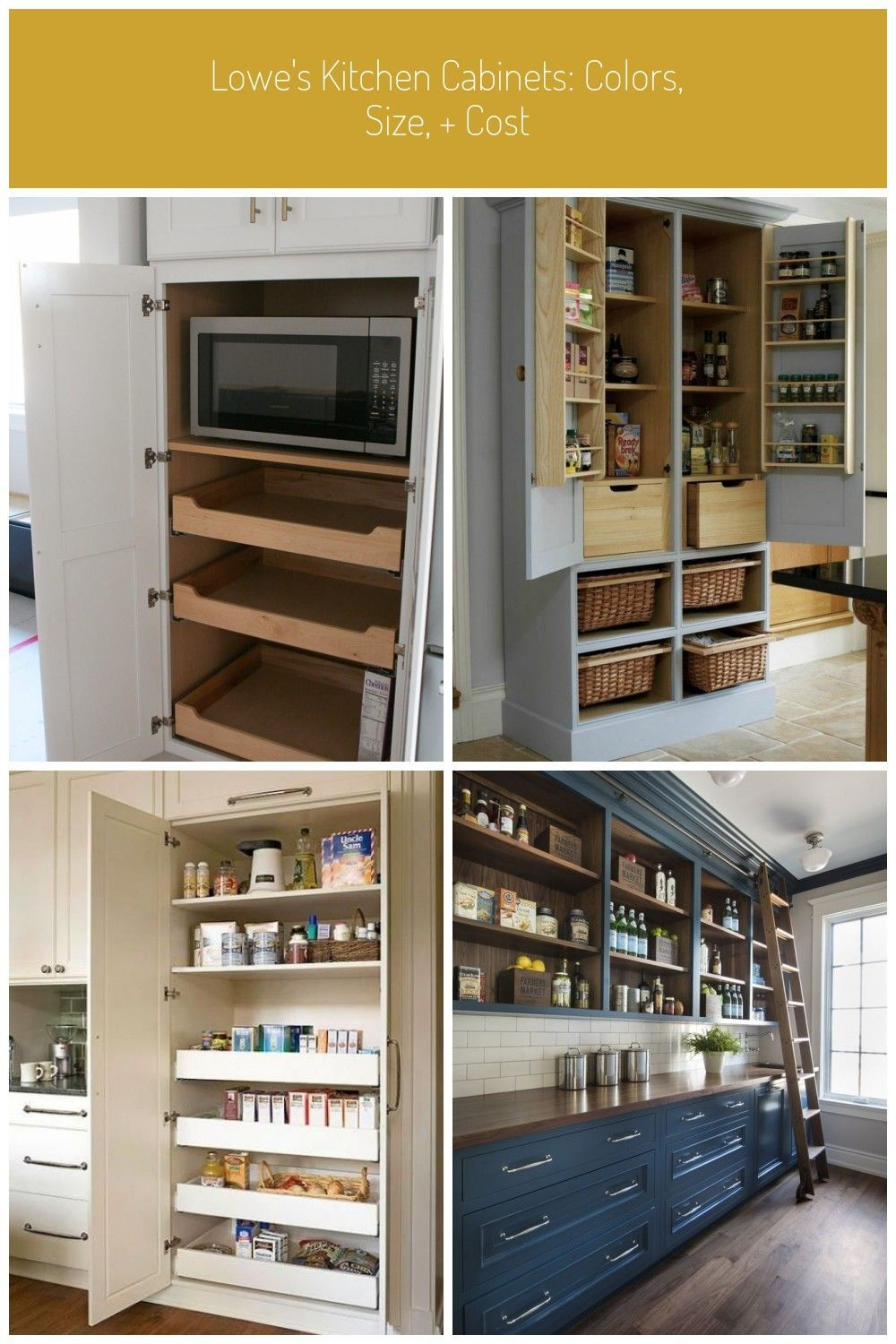 From Color To Cost And Everything In Between We Are Breaking Down Everything You In 2020 Kitchen Cabinet Colors Pantry Cabinet Free Standing Kitchen Pantry Cabinets