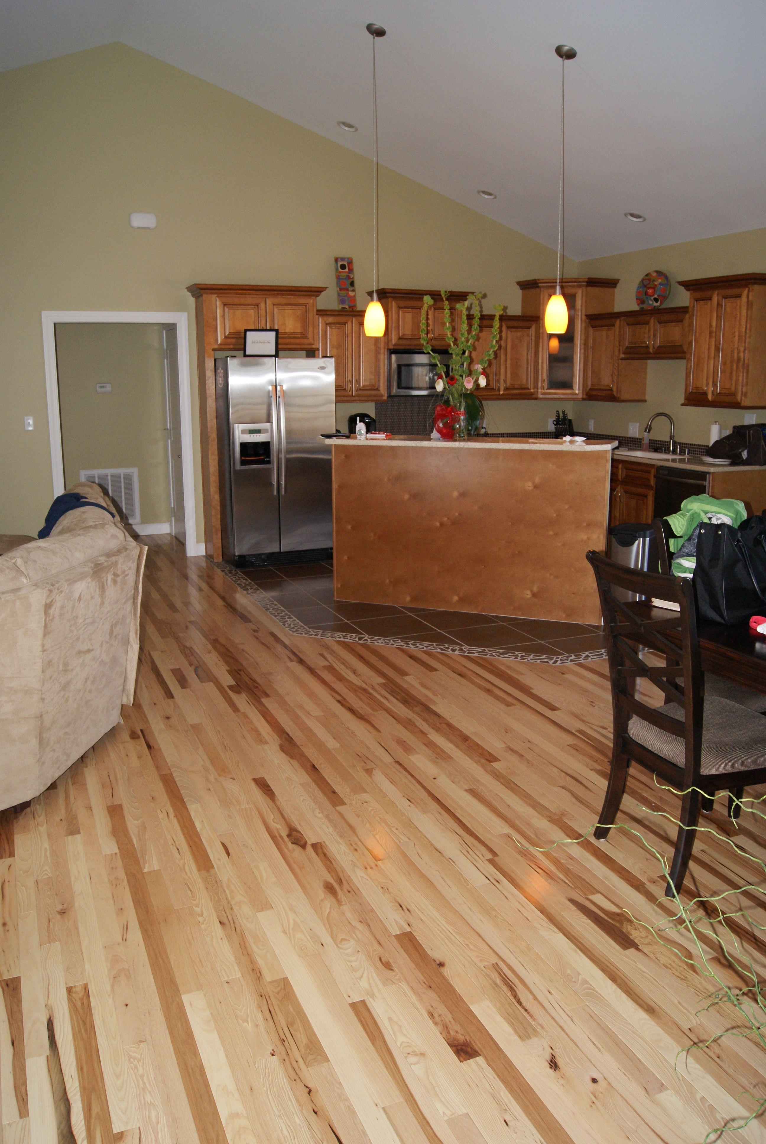 Hickory Hardwood Flooring With Natural Finish