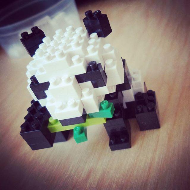 Finished the little panda 🐼 #panda #nanoblock #puzzling #