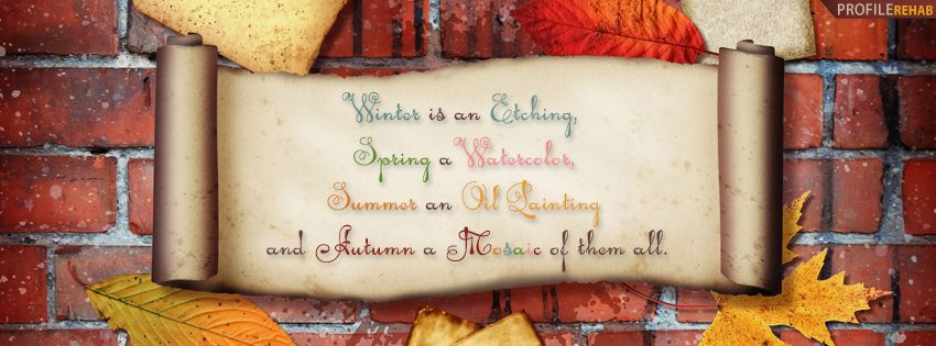 Autumn Quote Facebook Cover Quotes About Autumn Pictures
