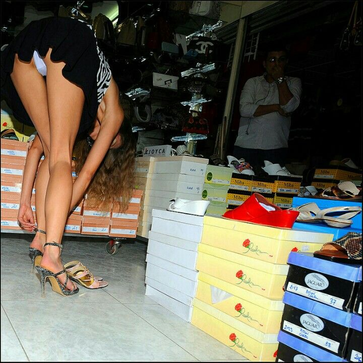 Shoe Shop Assistant Upskirt