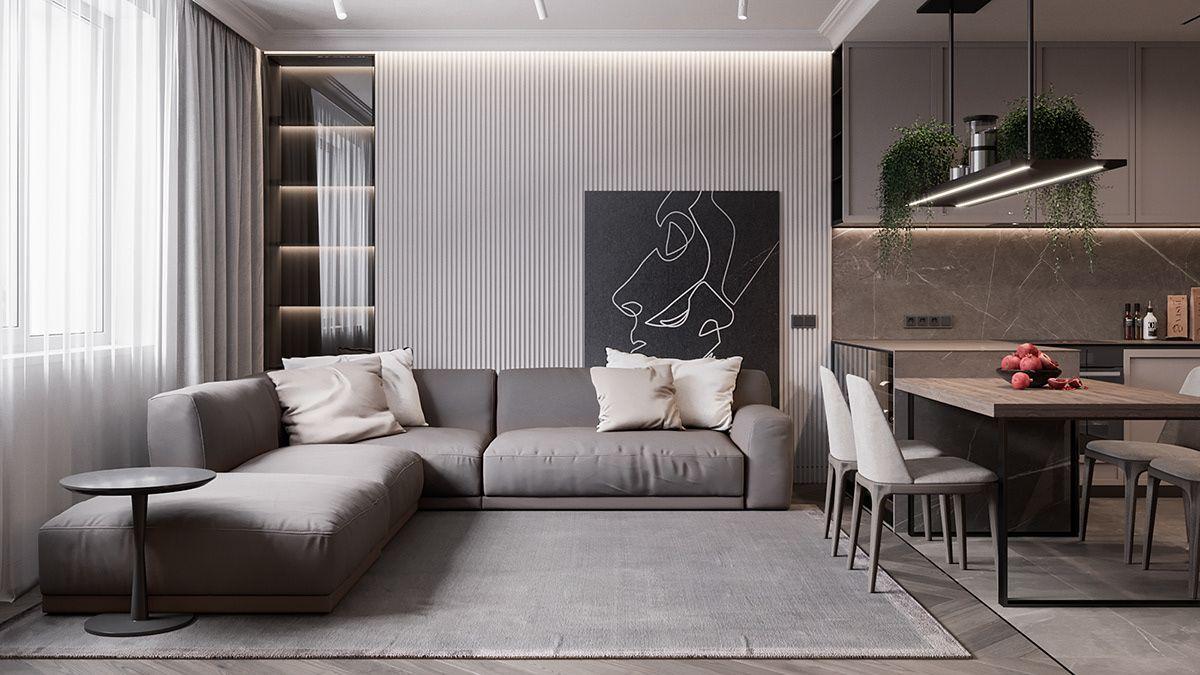 Mocco On Behance Living Dining Room Living Room Designs Dining Room Design