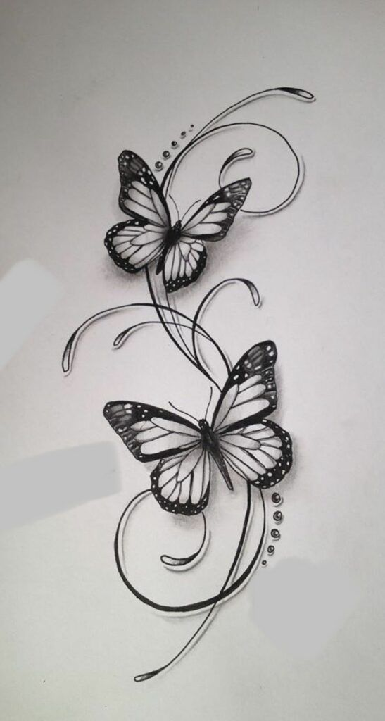 45 Wonderful Butterfly Tattoo Ideas For Tattoo Lovers Let Those Creative Juices Flow And Butterfly Tattoo Designs Butterfly Tattoo Flower Tattoo Designs