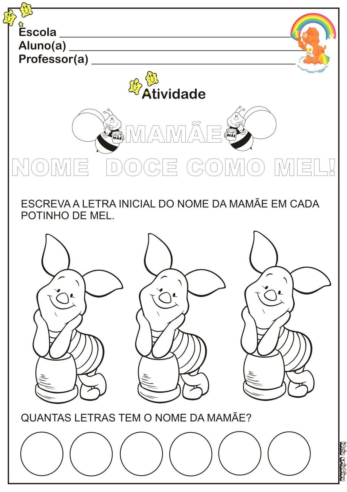 Atividade Dia Das Maes Educacao Infantil Com Imagens