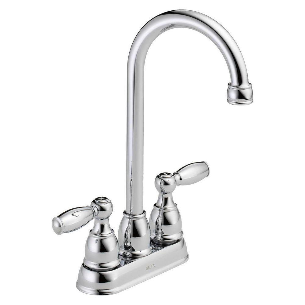 Delta Foundations 2 Handle Bar Faucet In Chrome B28911lf With