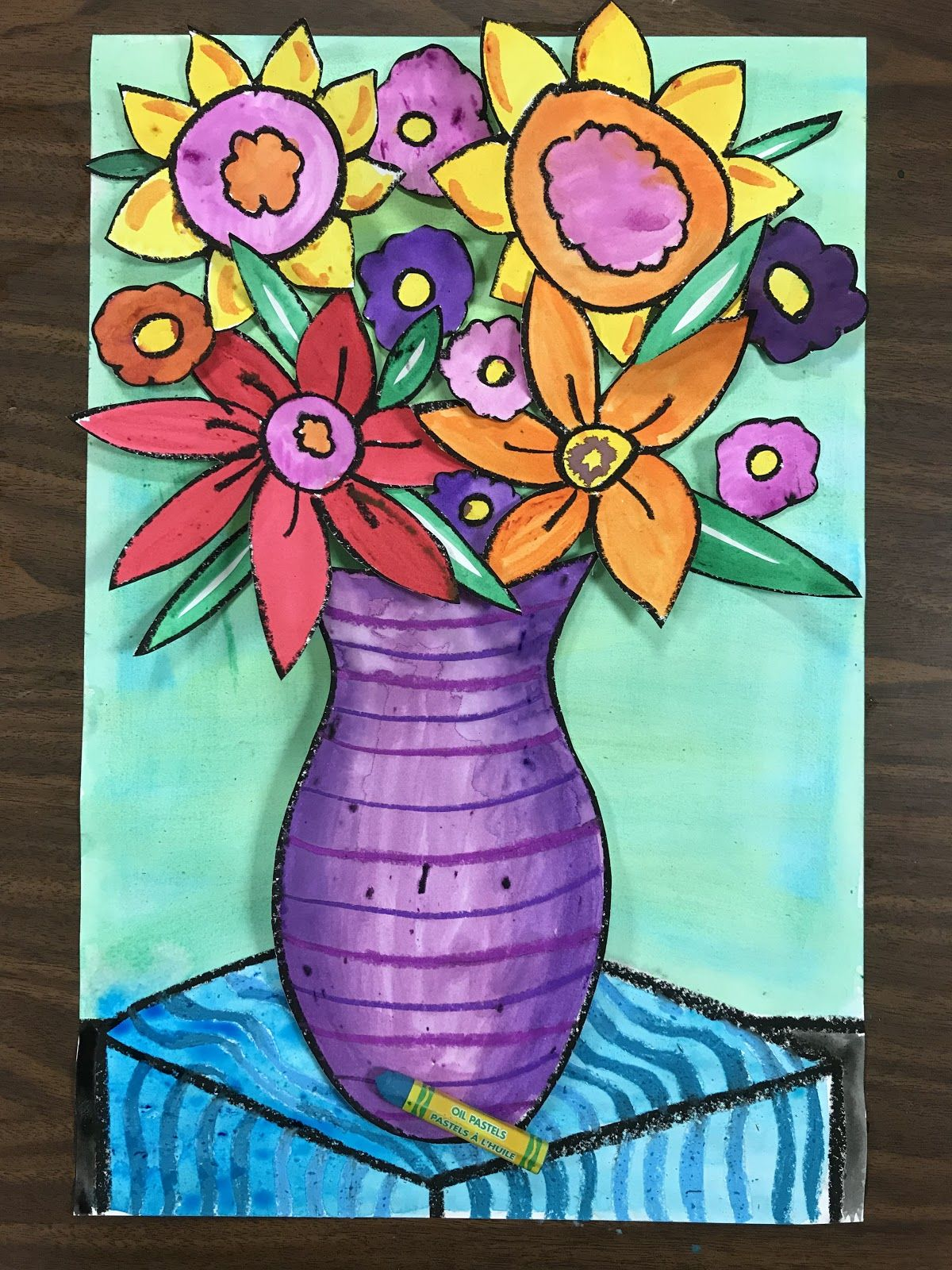 3rd grade spring flowers spring flower art elementary
