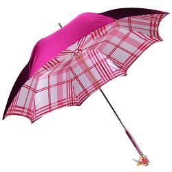 Pasotti Italian Umbrella - Pink Plaid