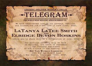 Free Telegram Invitation Template