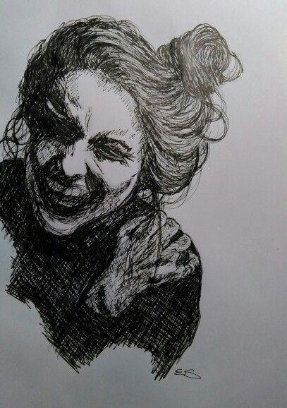 Portrait dessin feutre 0,5