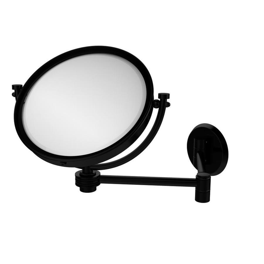 Allied Brass Black Brass Magnifying Wall Mounted Vanity Mirror Wm