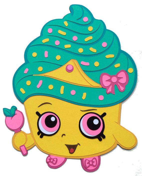 Shopkins Party Decoration Cupcake Queen