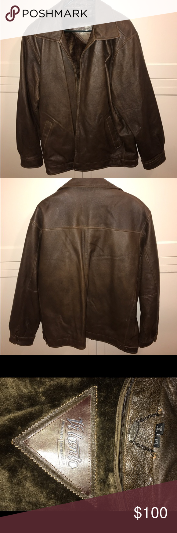 Nwot Vilanto Brown Leather Jacket This Leather Jacket Is Brand New Just Missing The Tags It Has A Removable Faux F Brown Leather Jacket Leather Jacket Jackets [ 1740 x 580 Pixel ]
