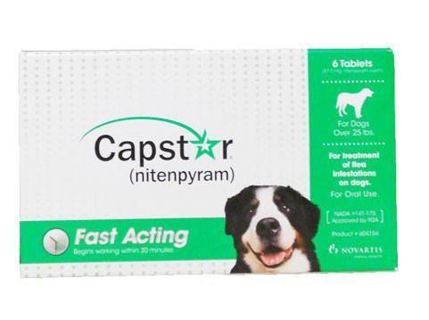 Capstar For Cats Dogs Over 25 Lbs 6 Tablets Dog Flea Treatment Dogs Fleas