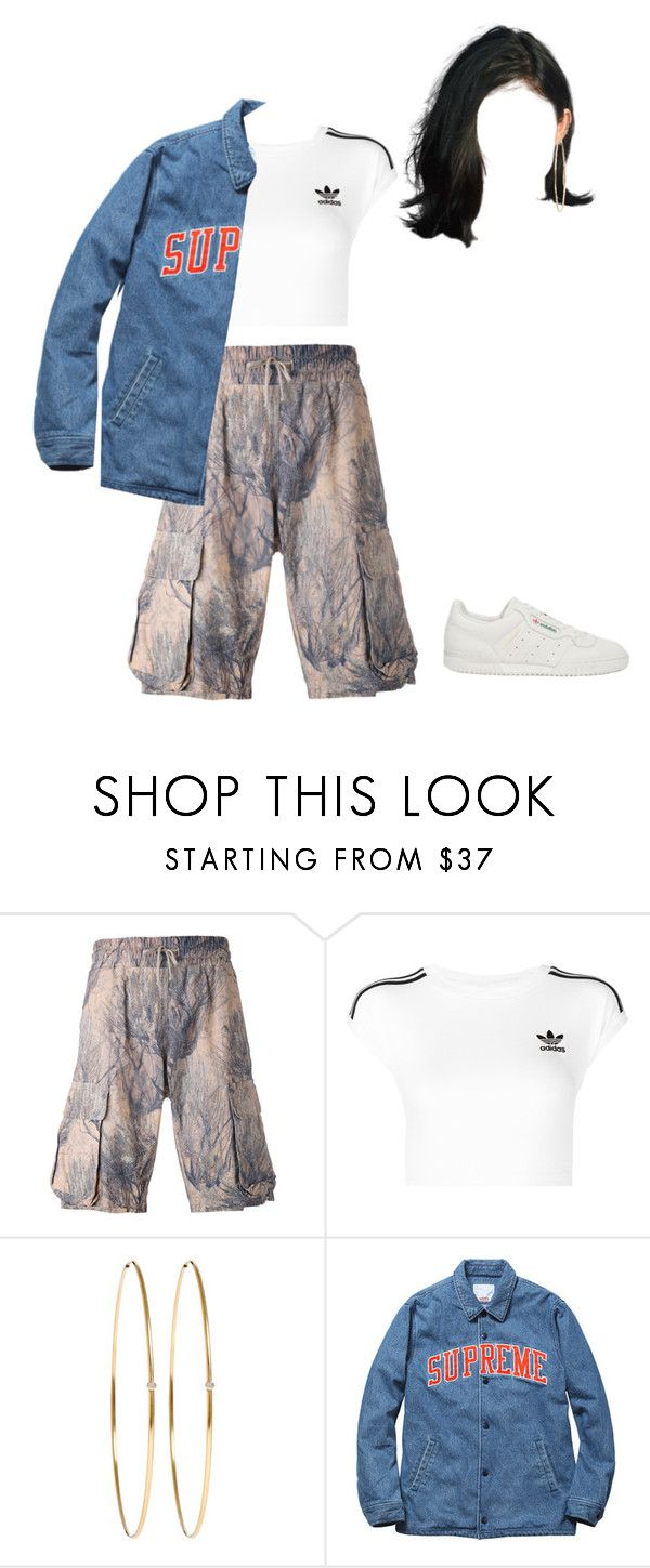 """""""Arriving in Maine with James Franco"""" by nytown ❤ liked on Polyvore featuring Yeezy by Kanye West, adidas Originals and Jennifer Meyer Jewelry"""