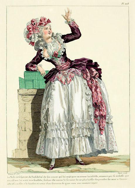 Women S Fashion Plate 1780s 1780 Pinterest 18th