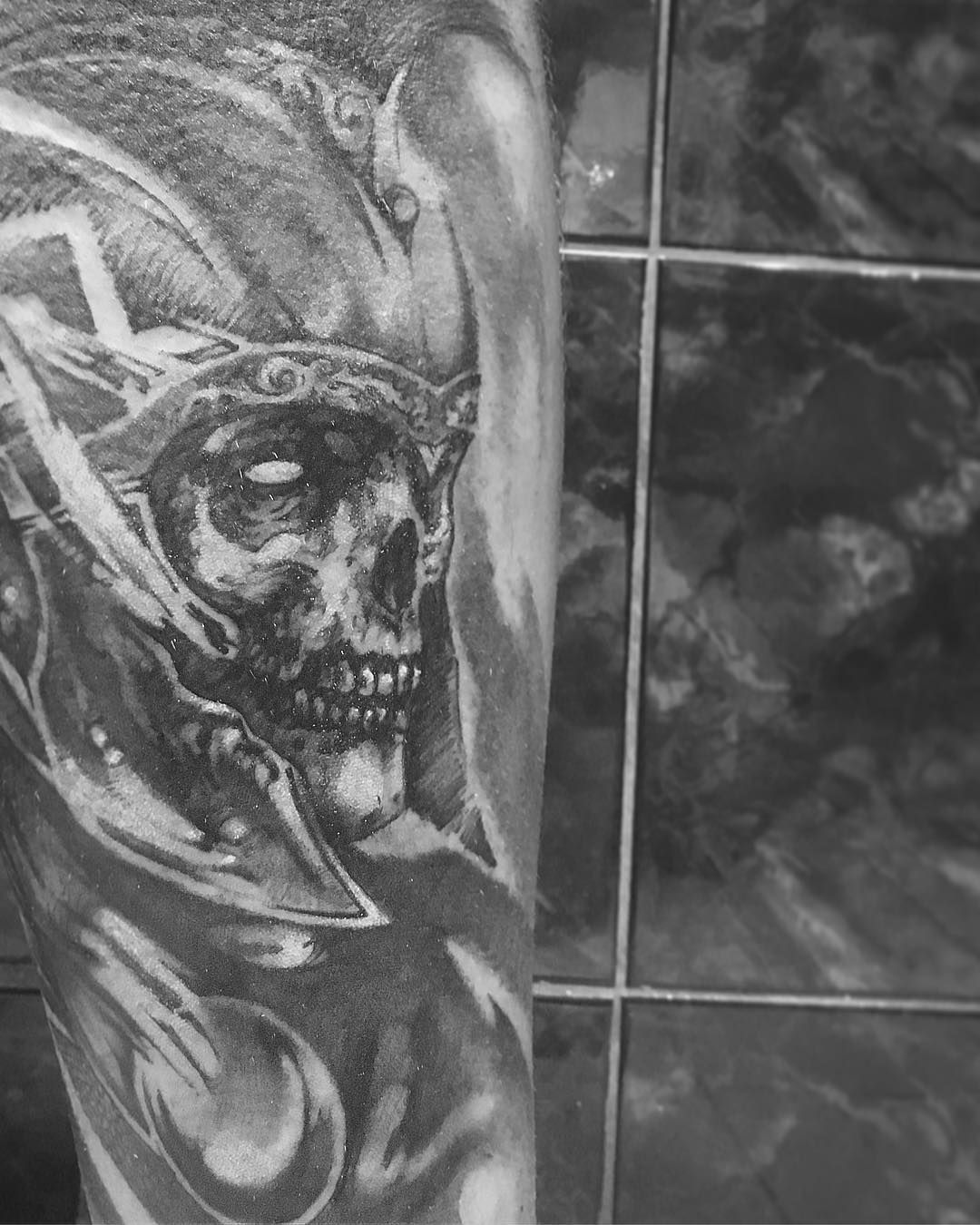 Poseidon Staff Tattoo: #greek #skull #god #of #war #aries #realistictattoo