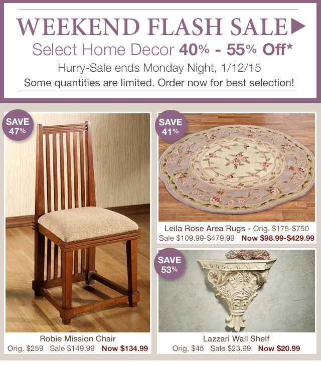 Flash Sale - Select Home Decor 40% - 55% Off*