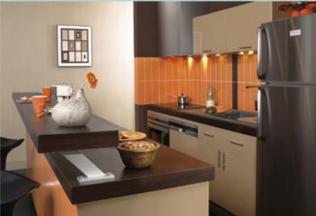 perfect amnagement petite cuisine ides de cuisine ouverte with plan de travail separation. Black Bedroom Furniture Sets. Home Design Ideas