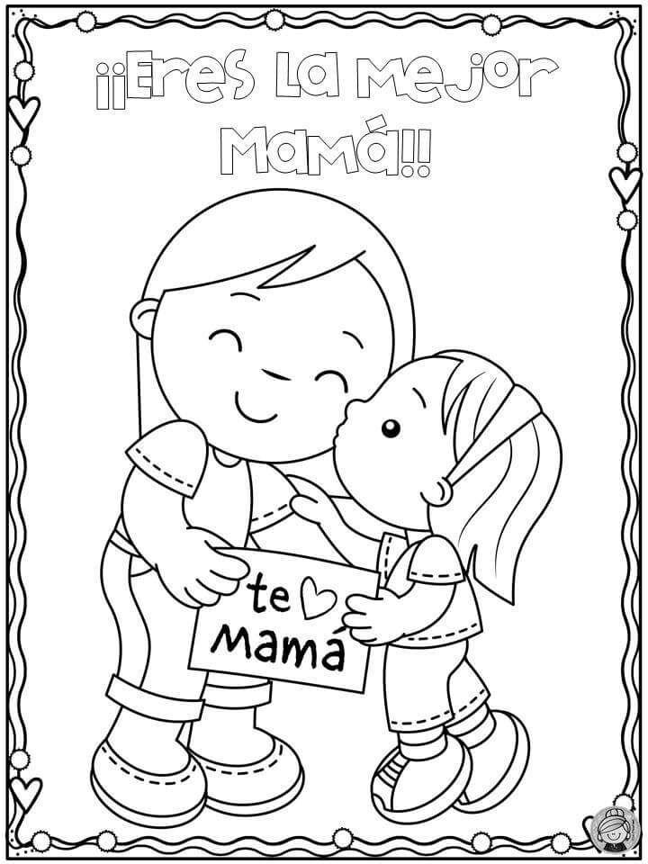 Pin De Lrb Like En Hojas De Trabajo Dibujos Del Dia De Las Madres Dibujos Dia Del Padre Manualidad Para Mama