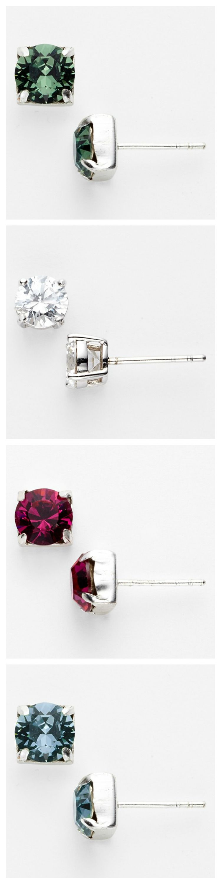 sparkly earrings stud want need pin love these pinterest