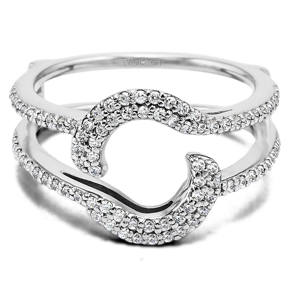 Halo Wedding Ring Wrap Guard Enhancer Made In Solid Gold Or Silver