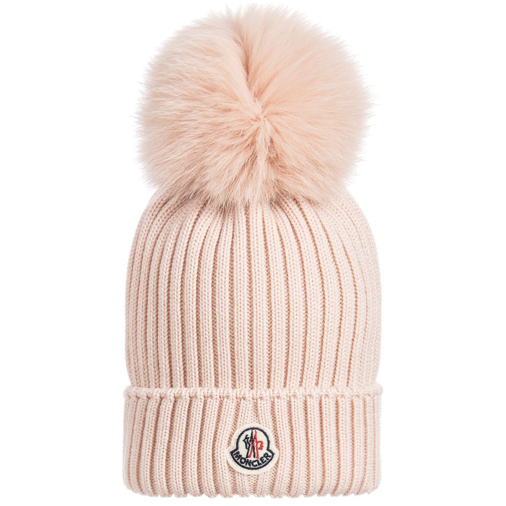 0313b9dfb1f2 Girls Fur BERRETTO Wool Hat for Girl by Moncler. Discover more ...