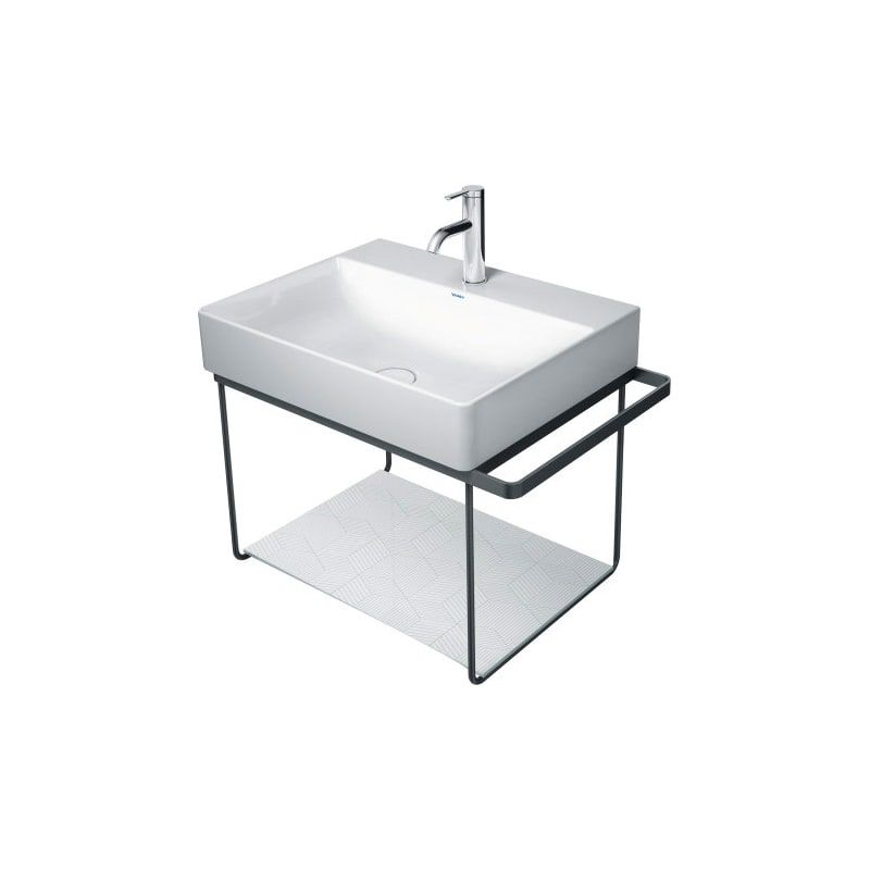 Duravit 0099648200 Cubic Line Durasquare Safety Glass Insert For Metal Console In 2020 Metal Console Duravit Wash Basin