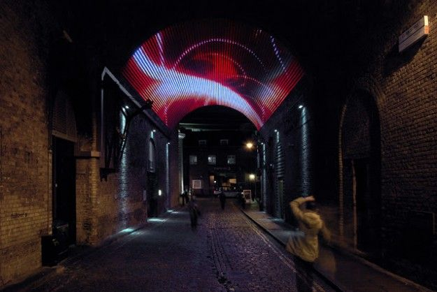 Forgotten Urban Spaces Are Being Reinvigorated Through The Deployment Of Creative  Lighting Displays.