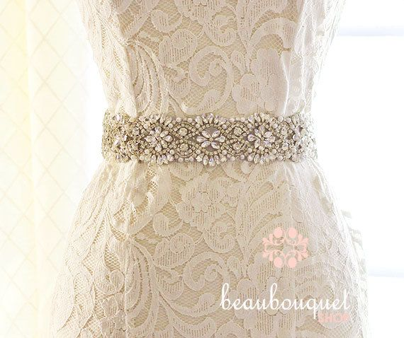 Wedding Sash SWAROVSKI Crystal Rhinestone Belt Bridal Sash Wedding ...