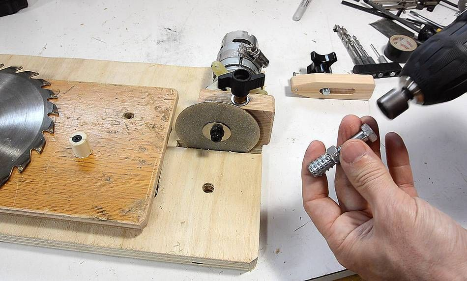 Table Saw Blade Sharpening Jig Carpentry Table Saw