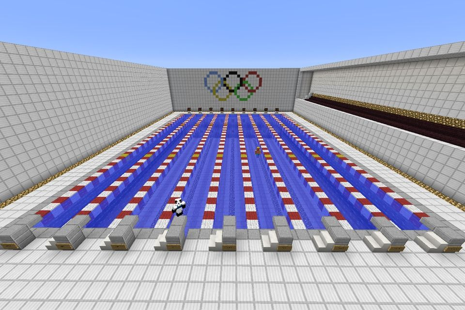 Minecraft olympic sized swimming pool minecraft - How large is an olympic size swimming pool ...