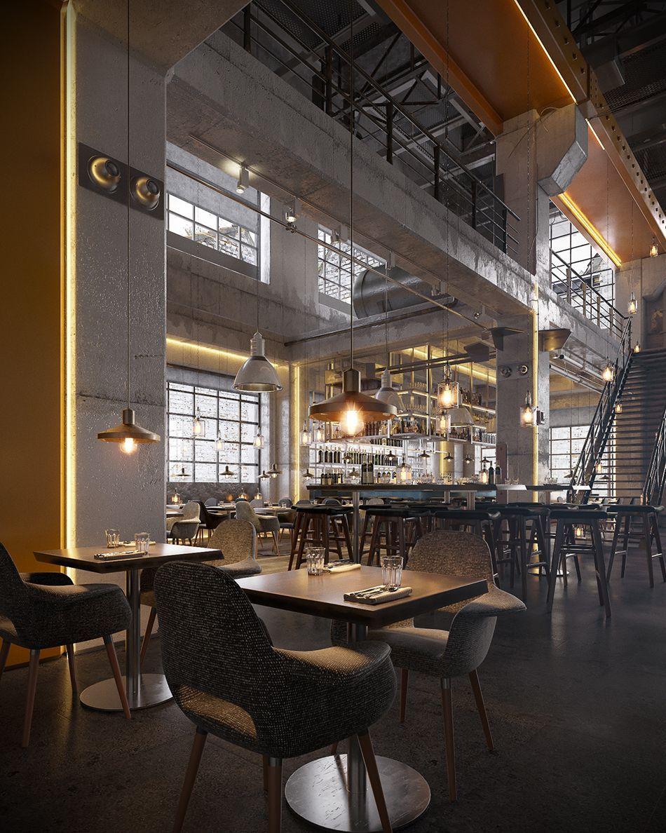 Vintage Industrial Bar And Restaurant Designs Industrial Loft Design Industrial Livingroom Vintage Industrial Decor