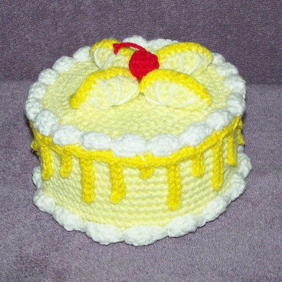 Lemon Twist Treasure Cake PDF crochet pattern Pdf Lemon and Crochet