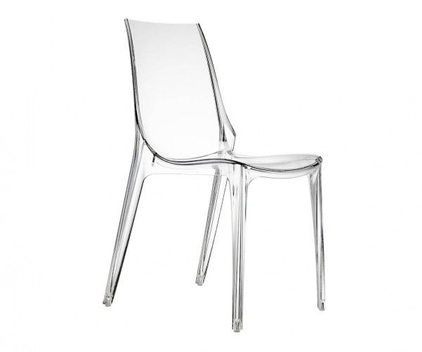 Image For Ovada Stackable Plastic Dining Chair Transparent