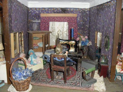 traumhafte grosse antike 6 Zimmer Puppenstube Puppenhaus um 1900 -1920 in Delbrück | eBay