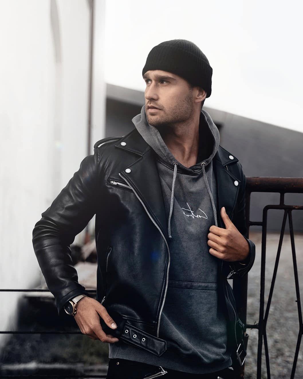 Matko Hud Croatia On Instagram Beanie Season Happy Friday Everyone Leather Jeans Men Leather Jacket Men Black Biker Jacket [ 1322 x 1058 Pixel ]